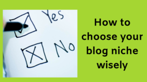 Choose your blog niche wisely