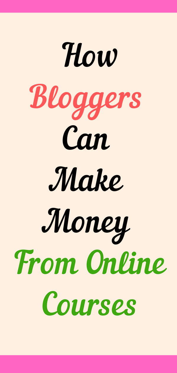 Make Money From Online Courses