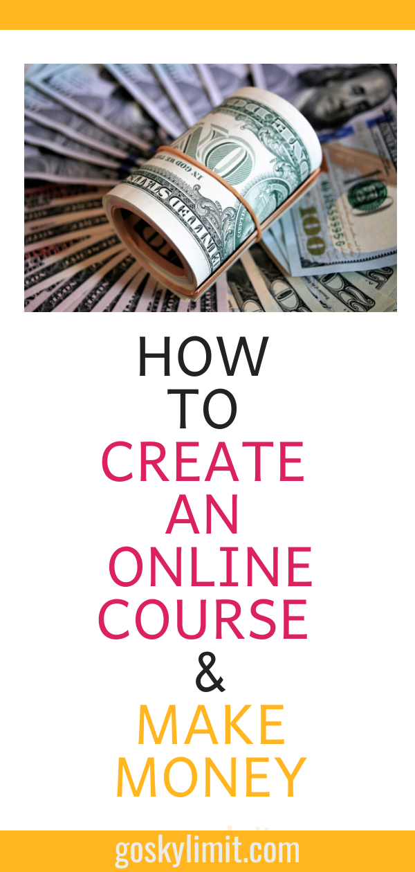 How to create an online course and make money online