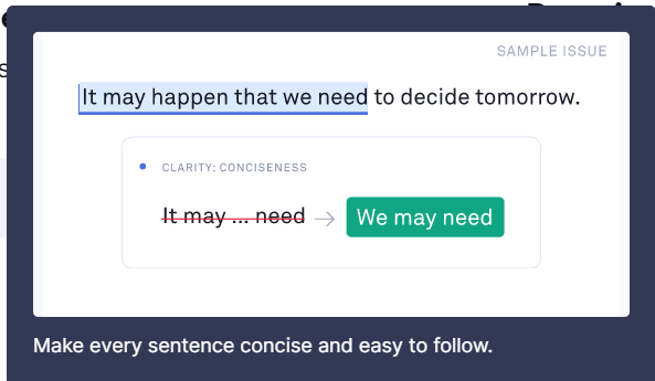 Grammarly Review concise writing