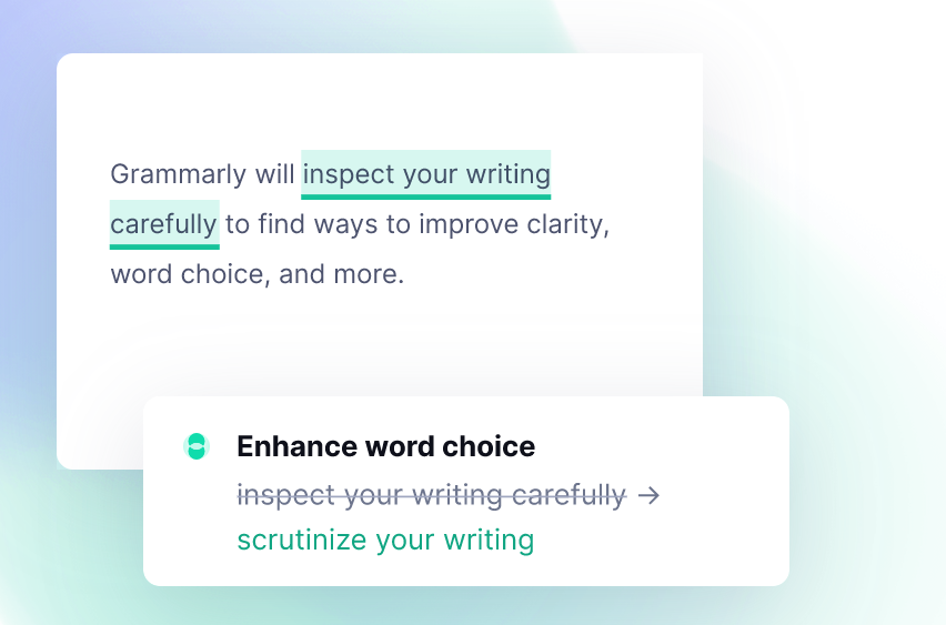 Grammarly Review Word Choice